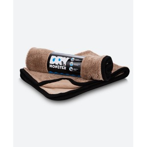DRY MONSTER Brown Super Absorbent Microfiber Towel