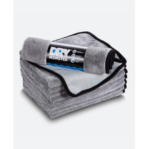 DRY MONSTER Gray Super Absorbent Microfiber Towel
