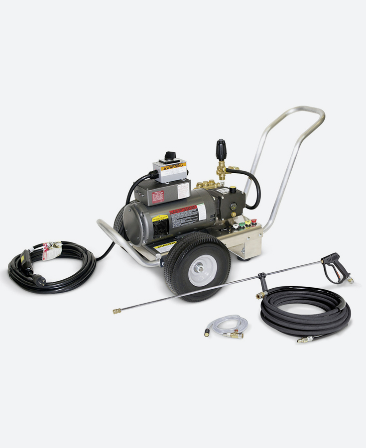 HOTSY Cold Water Electric Pressure Washer - HD SERIES, ELECTRIC-CART